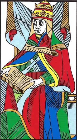 High Priestess Marseilles tarot