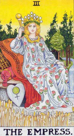The Empress – Major Arcana Tarot Card Meaning, according to Waite, Ouspensky, Crowley and Papus