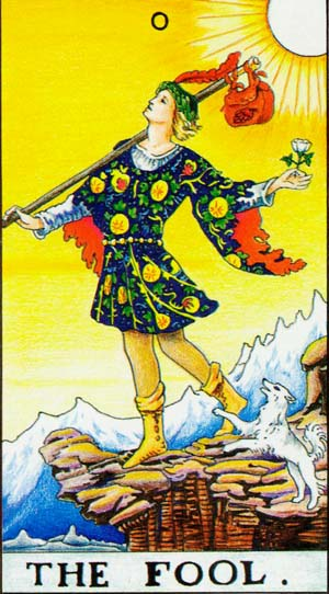 The Fool – Major Arcana Tarot Card Meaning, according to Waite, Ouspensky, Crowley and Papus