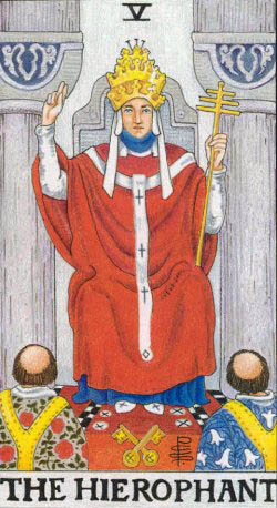 the hierophant rider waite tarot