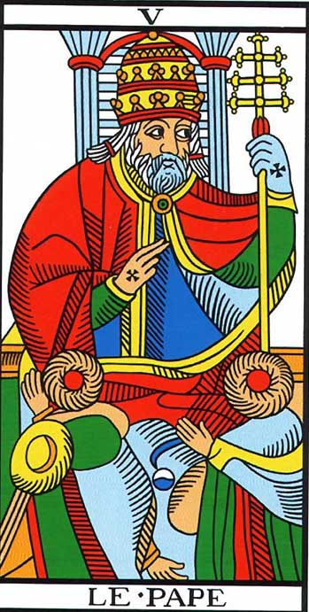 the hierophant tarot of marseilles