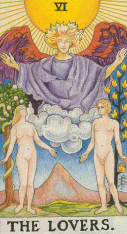 The Lovers – Major Arcana Tarot Card Meaning, according to Waite, Ouspensky, Crowley and Papus