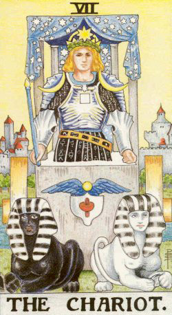 the chariot rider waite tarot