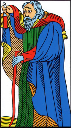 the hermit tarot of marseilles