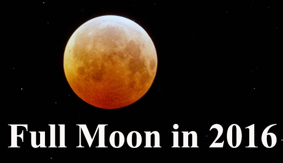 Moon Phases in 2016: Full Moon Calendar