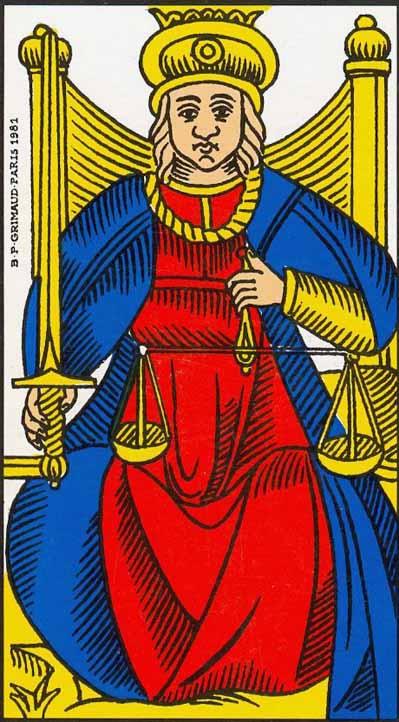 justice tarot of marseilles