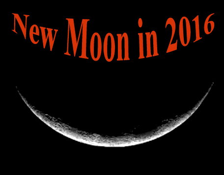 new moon calendar in 2016