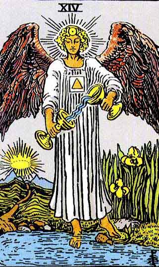 Temperance – Major Arcana Tarot Card Meaning, according to Waite, Ouspensky, Crowley and Papus