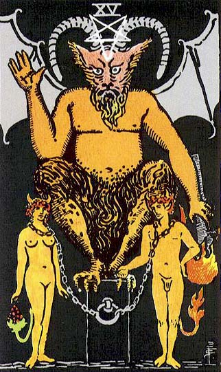 The Devil – Major Arcana Tarot Card Meaning, according to Waite, Ouspensky, Crowley and Papus