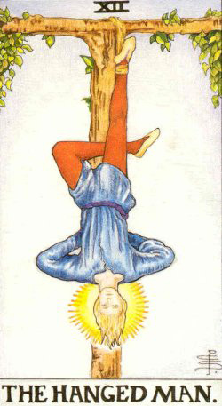 The Hanged Man – Major Arcana Tarot Card Meaning, according to Waite, Ouspensky, Crowley and Papus
