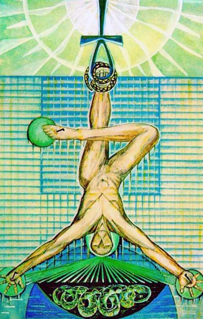 the hanged man thoth tarot