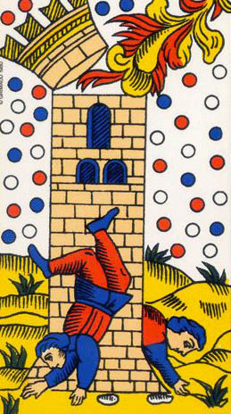 the tower tarot of marseilles