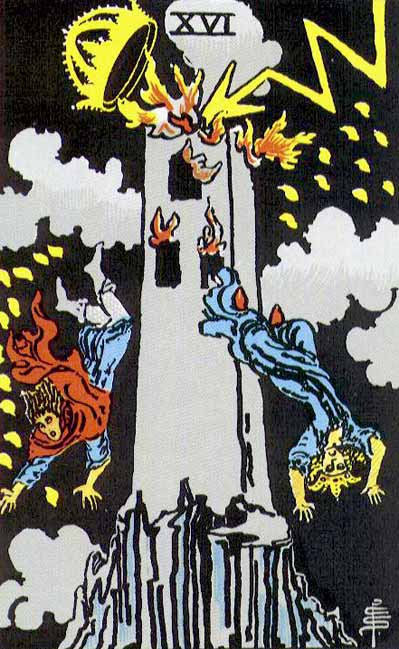 The Tower – Major Arcana Tarot Card Meaning, according to Waite, Ouspensky, Crowley and Papus