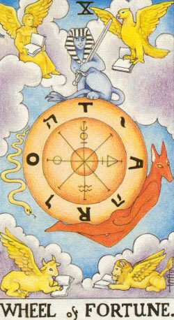Wheel of Fortune – Major Arcana Tarot Card Meaning, according to Waite, Ouspensky, Crowley and Papus