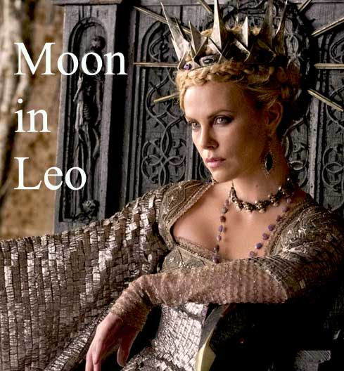 charlize theron moon in leo