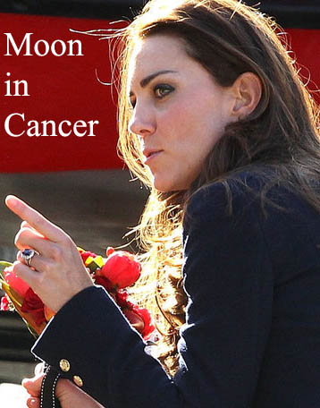 kate middleton moon in cancer