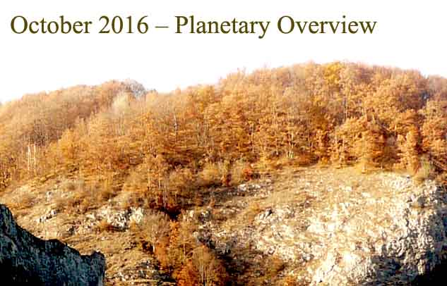 October 2016 – Planetary Overview: Major Astrological Aspects and Transits