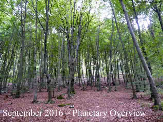 September 2016 – Planetary Overview: Major Astrological Aspects and Transits