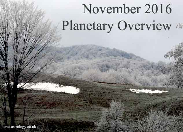 November 2016 – Planetary Overview: Major Astrological Aspects and Transits