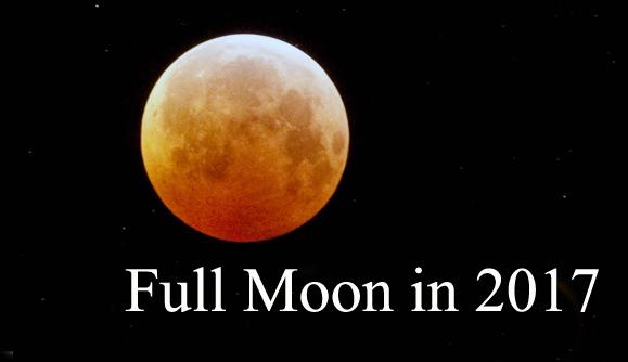 Moon Phases in 2017: Full Moon Calendar
