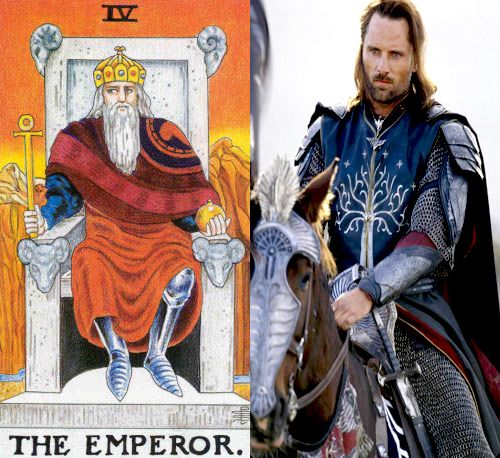 Tarot: the Emperor and His Avatars – Aragorn from Lord of the Rings
