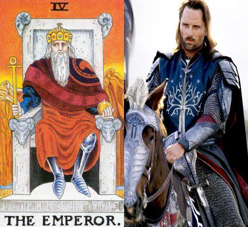 tarot the emperor aragorn
