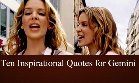 Gemini Inspirational Quotes