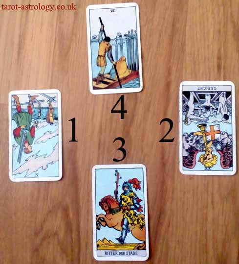 4 Cards Tarot Spread for a New Relationship