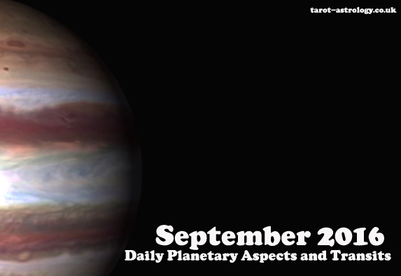 September 2016 Daily Planetary Aspects and Transits