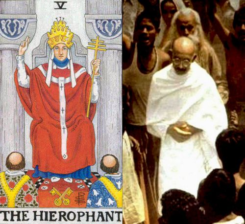 tarot the hierophant gandhi