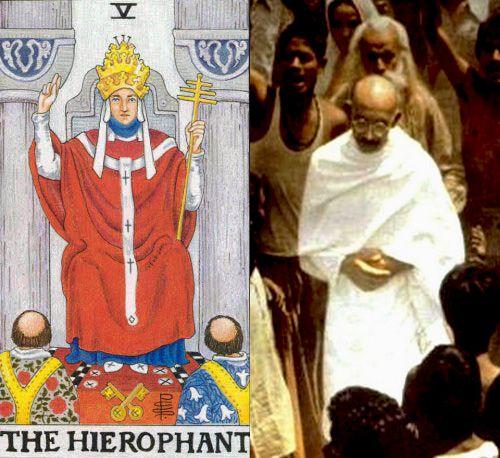tarot the hierophant gandhi