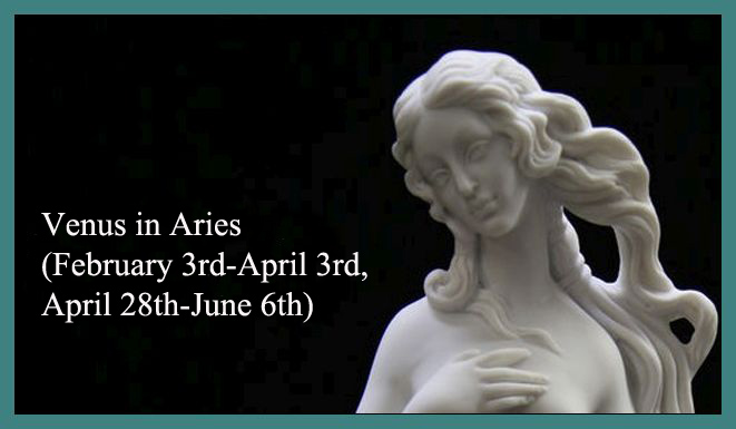 Venus in Aries for Each Zodiac Sign (February 3rd-April 3rd, April 28th-June 6th)