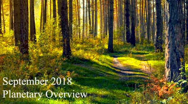 September 2018 Planetary Overview: Major Astrological Aspects and Transits