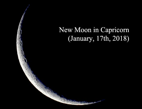 New Moon in Capricorn (January, 17th, 2018)