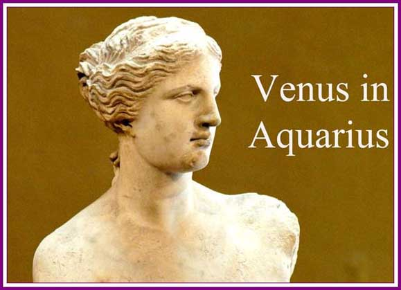 Venus in Aquarius for each zodiac sign (January 18th-February 10th)