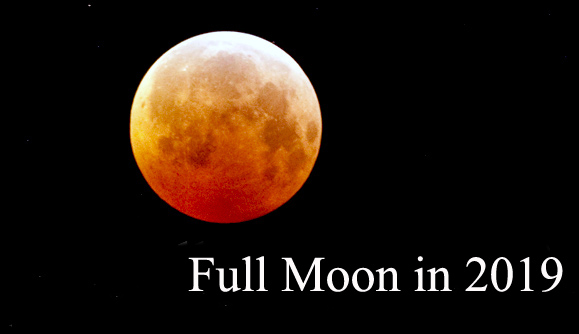 Moon Phases In 2019 Full Moon Calendar And Lunar Eclipse