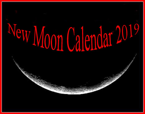 Moon Phases in 2019: New Moon Calendar and Solar Eclipses