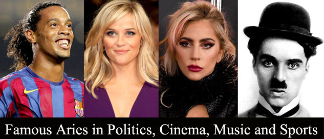 Famous Aries in Politics, Cinema, Music and Sports