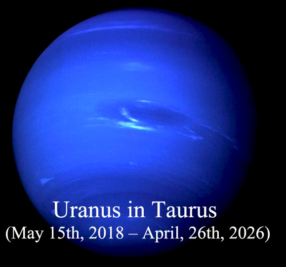 Uranus in Taurus (May 15th, 2018 – April, 26th, 2026)