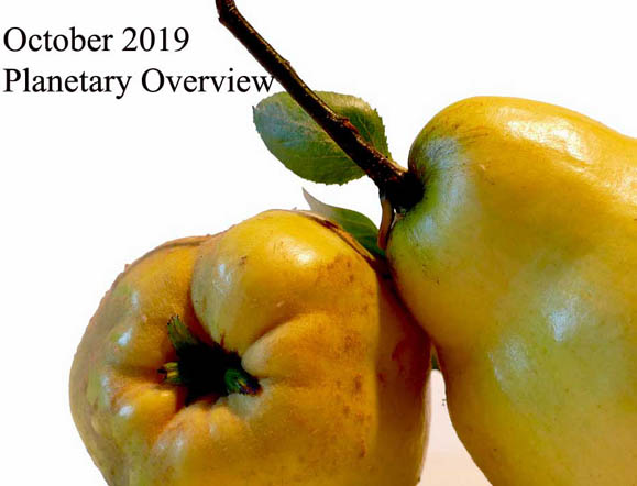 October 2019 – Planetary Overview: Major Astrological Aspects and Transits