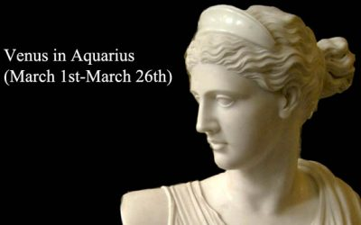 Venus transits Aquarius 2019