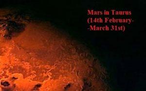 mars in taurus 2019