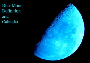 blue moon definition and calendar