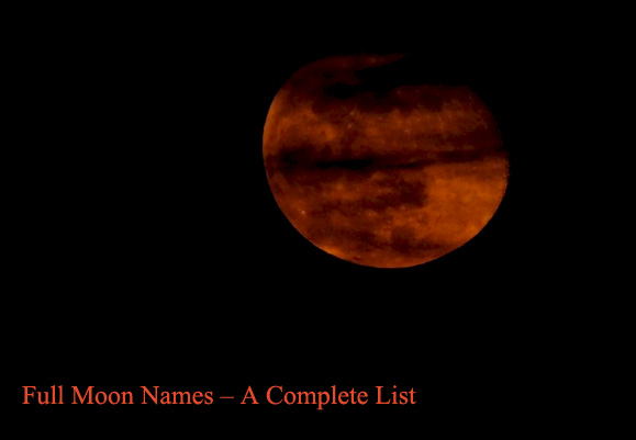 Full Moon Names – A Complete List