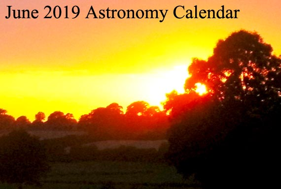 June 2019 Astronomy Calendar – Celestial Events