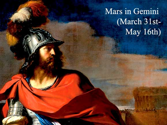 Mars in Gemini for Each Zodiac Sign (March 31st-May 16th)