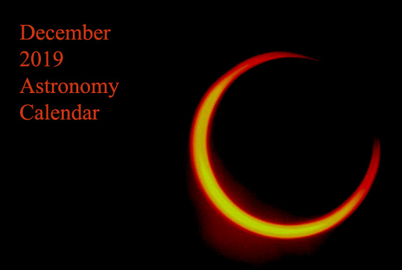 December 2019 Astronomy Calendar – Celestial Events