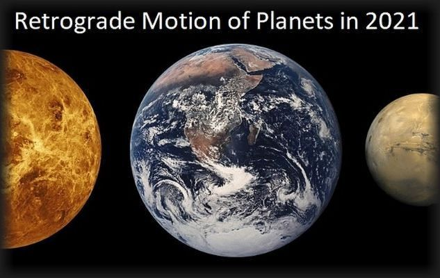 Retrograde Motion of Planets in 2021: Mercury, Venus, Jupiter, Saturn, Uranus, Neptune, Pluto