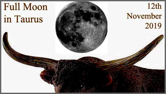 12th November Full Moon in Taurus