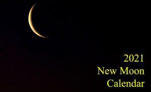 new moon 2021 calendar